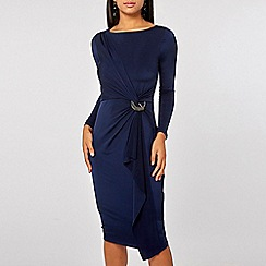 Dorothy Perkins - Lily & france navy knot front dress