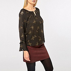 Dorothy Perkins - Billie & blossom gold butterfly print blouse