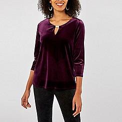 Dorothy Perkins - Billie & blossom purple velour blouse
