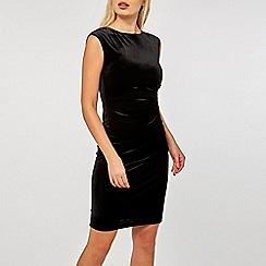 Dorothy Perkins - Billie & blossom black velour bodycon dress