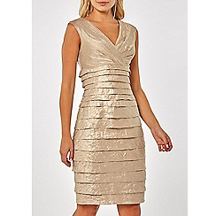 Dorothy Perkins - Lily & franc champagne shutter wrap shift dress