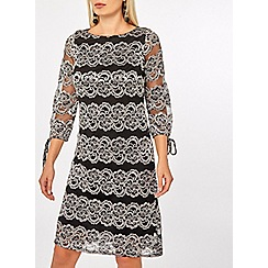 Dorothy Perkins - Lily & franc black lace shift dress