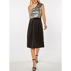 Dorothy Perkins - Luxe grey one shoulder prom dress