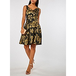 Dorothy Perkins - Luxe black and gold prom dress