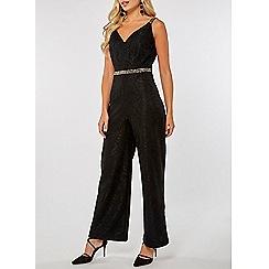 Dorothy Perkins - Black sleeveless lace jumpsuit
