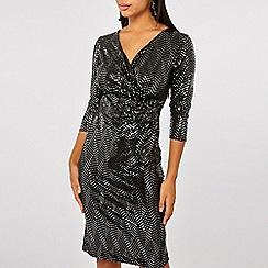 Dorothy Perkins - Billie & blossom black mirror pencil dress