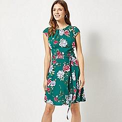 Dorothy Perkins - Billie & Blossom Green Floral Print Skater Dress
