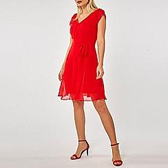 Dorothy Perkins - Billie & blossom red chiffon skater dress