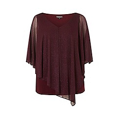 Dorothy Perkins - Billie & blossom curve mulberry glitter top