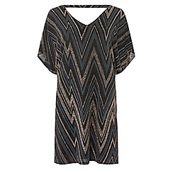 Dorothy Perkins - Billie & blossom petite multicoloured zig zag print shift dress