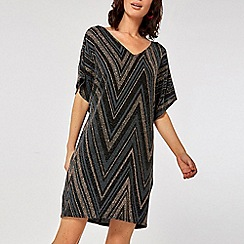 Dorothy Perkins - Billie & blossom black lable gold zig zag dress