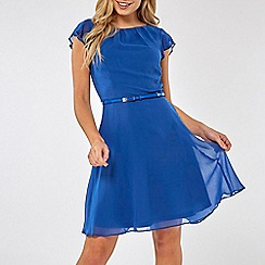 Dorothy Perkins - Cobalt angel sleeves skater dress