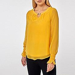Dorothy Perkins - Billie & Blossom Yellow Long Sleeve Blouse
