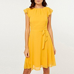 Dorothy Perkins - Billie & Blossom Ochre Angel Sleeves Skater Dress
