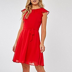 Dorothy Perkins - Red angel sleeves skater dress
