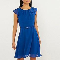 Dorothy Perkins - Billie & Blossom Petite Cobalt Belted Dress