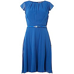 Dorothy Perkins - Billie & blossom tall blue belted flare dress