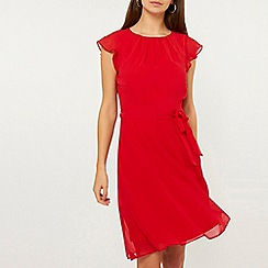 Dorothy Perkins - Tall Red Angel Sleeves Skater Dress