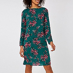 Dorothy Perkins - Billie & blossom green floral print shift dress
