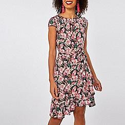 Dorothy Perkins - Billie & blossom pink ditsy print ruffle skater dress