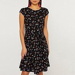 Dorothy Perkins - Billie & blossom petite black bow skater dress