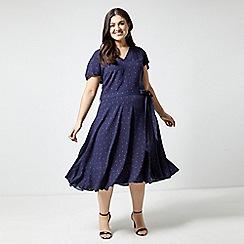 Dorothy Perkins - Billie & Blossom Curve Navy Ladybird Dress