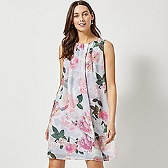 Dorothy Perkins - Billie and Blossom Grey Floral Print Trapeze Dress