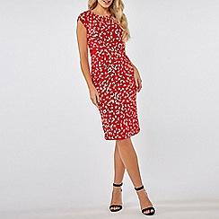 Dorothy Perkins - Lily & franc red daisy print dress