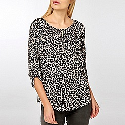 Dorothy Perkins - Billie and Blossom Leopard Print Tie Neck Blouse