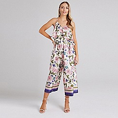 Dorothy Perkins - Girls On Film Multi Coloured Cold Shoulder Jumpsuit