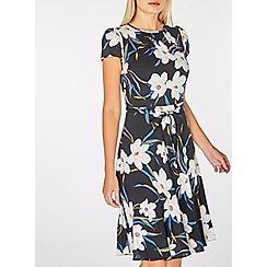 Dorothy Perkins - Billie & blossom black viscose bloom skater dress