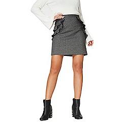 Dorothy Perkins - Double ruffle check print mini skirt