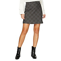 Dorothy Perkins - Grey checked mini skirt