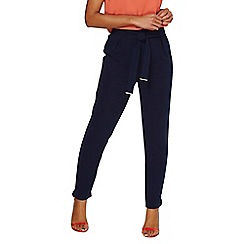 Dorothy Perkins - Navy metal belted joggers