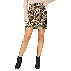 Dorothy Perkins - Yellow jacquard mini skirt
