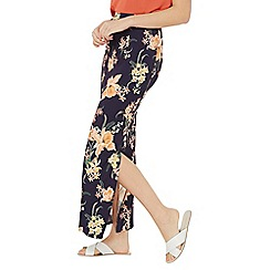 Dorothy Perkins - Navy tropical maxi skirt