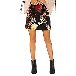 Dorothy Perkins - Black jules floral print mini skirt