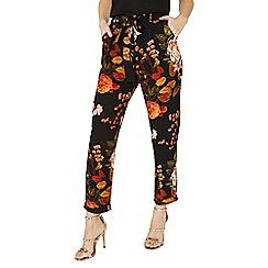 Dorothy Perkins - Black jules floral joggers