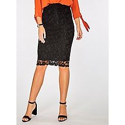 Dorothy Perkins - Black lace pencil skirt