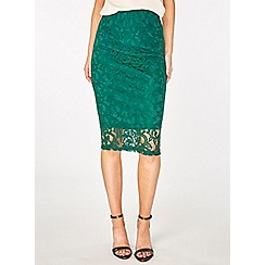 Dorothy Perkins - Green lace pencil skirt