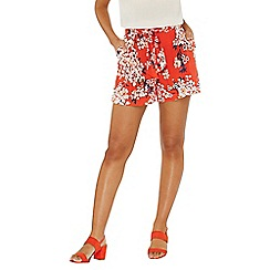 Dorothy Perkins - Red floral blossom print shorts