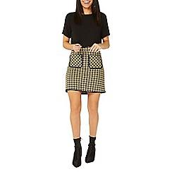 Dorothy Perkins - Yellow geometric print mini skirt