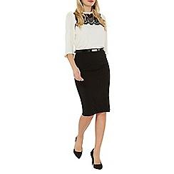 Dorothy Perkins - Black belted pencil skirt