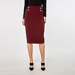 Dorothy Perkins - Wine button detail pencil skirt