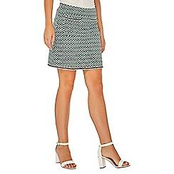 Dorothy Perkins - Green geometric print pocket mini skirt