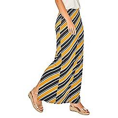 Dorothy Perkins - Ochre diagonal striped maxi skirt