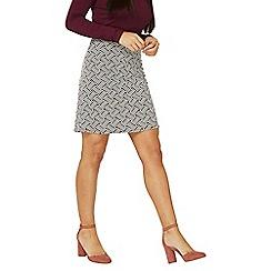 Dorothy Perkins - Monochrome zig-zag chevron mini skirt