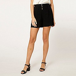 Dorothy Perkins - Black button front shorts