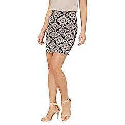 Dorothy Perkins - Blue and pink jacquard mini skirt