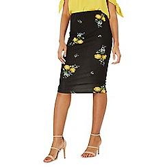 Dorothy Perkins - Black and yellow floral pencil skirt